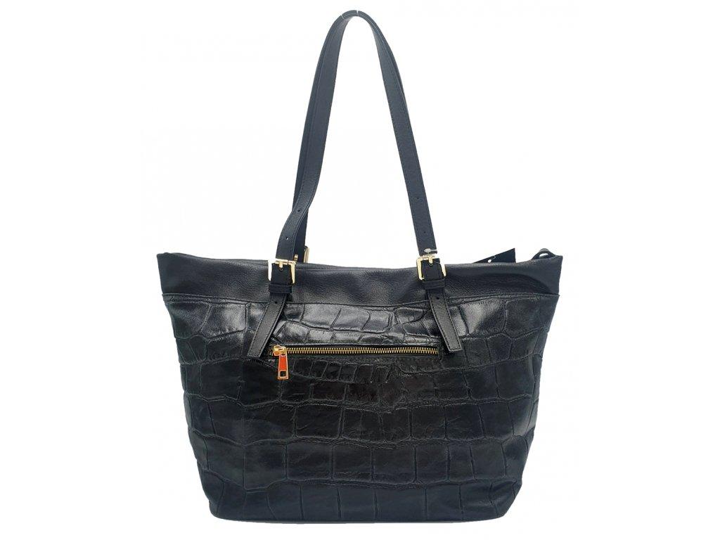 Kožená kabelka Mila černá