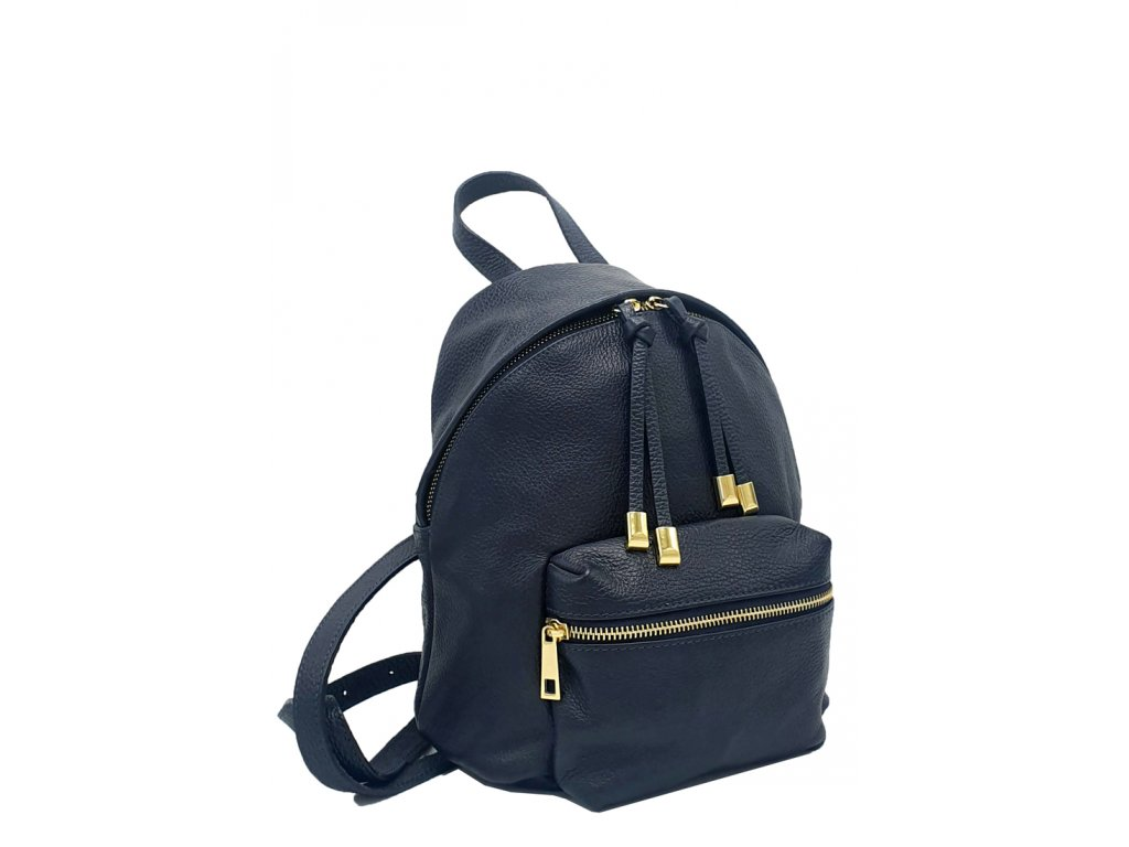Kožený batoh Erno modrý