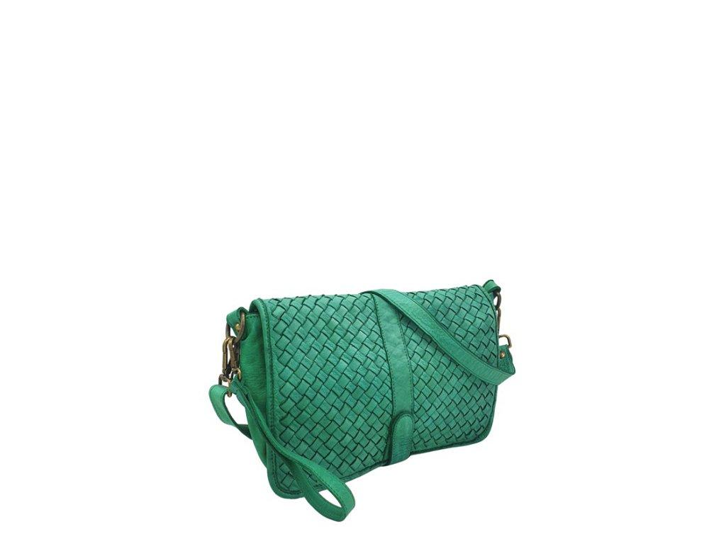 Kožená kabelka 2450 vintage zelená