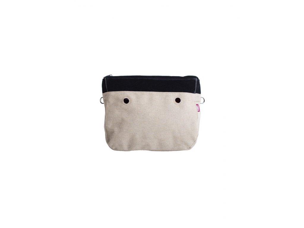 Vnitřní taška střední VELLUTO NERO