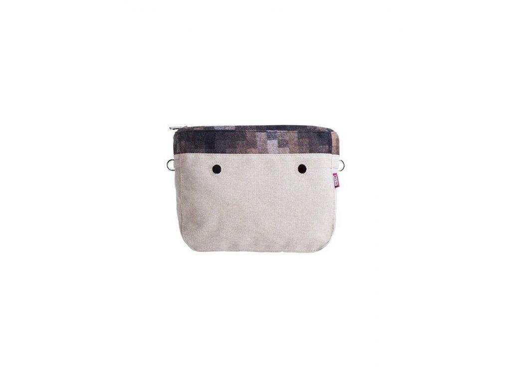 Vnitřní taška střední LANA PIXEL MARRONE