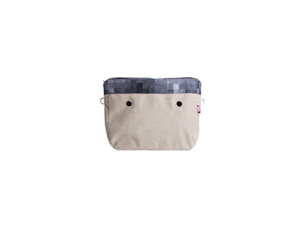 Vnitřní taška střední LANA PIXEL GRIGIO