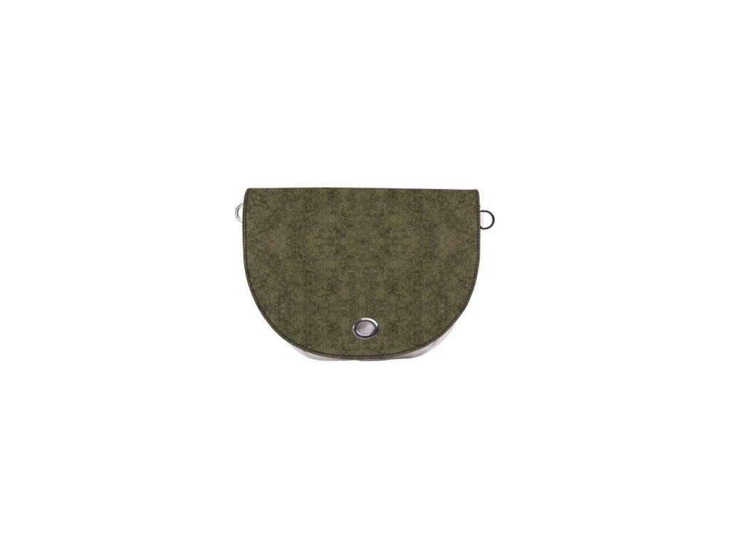 Vnitřní taška s klopou J-HOOP LANA BOUCLE VERDE OLIVA
