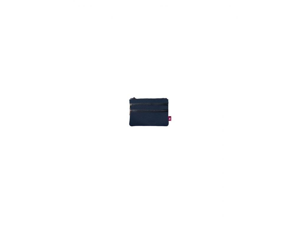 Kosmetická taštička s dvojitým zipem ECODOLLARO BLU
