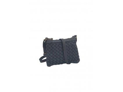 Kožená crossbody kabelka 2894 vintage černá